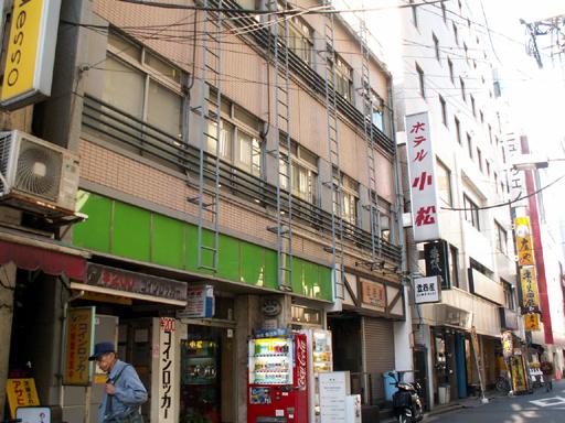 上野の「ホテル小松」外観