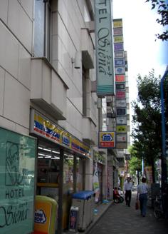 ホテルシェーナ横のコンビニ「ミニストップ」