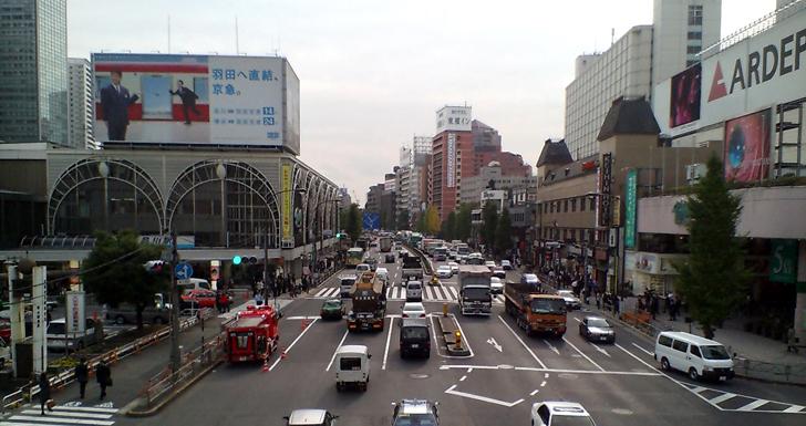 品川駅と京品ホテル(2007/11)