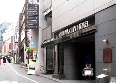 渋谷シティホテル玄関と「ランブリングロード」