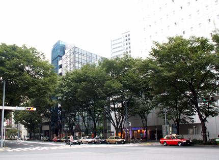 新宿ワシントンホテル前の「南通り」