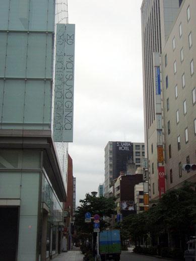 ソラリア西鉄ホテル銀座(中央通りからの眺め)