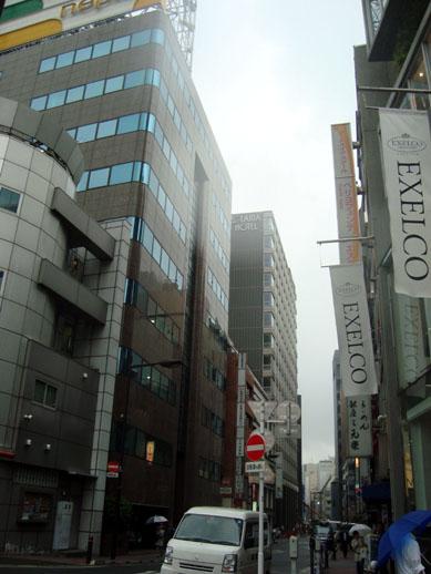 ソラリア西鉄ホテル銀座(三原橋交番からの眺め)