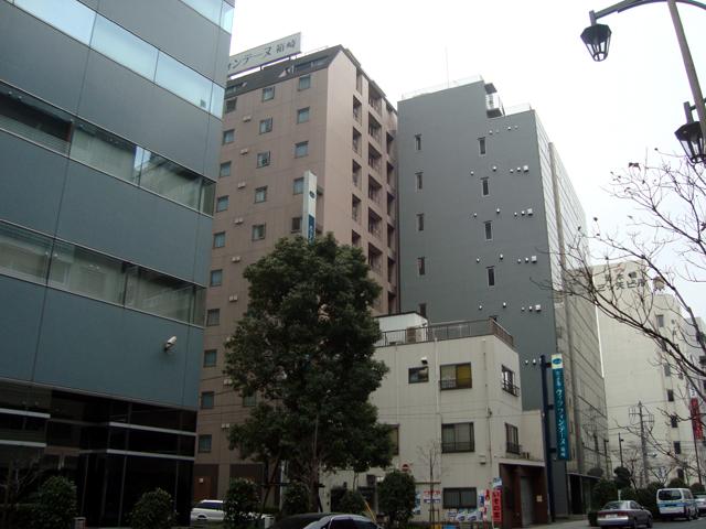 日本橋箱崎ビルの背後に控える「ヴィラフォンテーヌ箱崎」